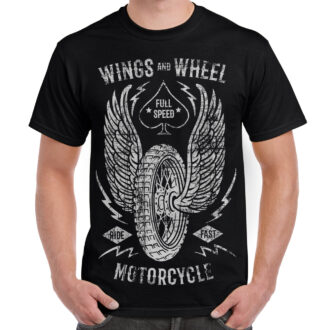 Wings and Wheel Graphic T-shirt