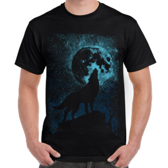 Wolf Abstract Graphic Design T-shirt