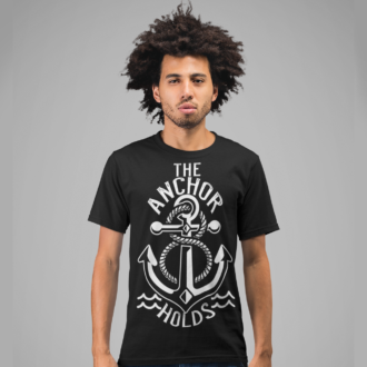 The Anchor Holds Graphic Design T-shirt