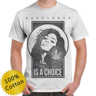 Happiness is a Choice Unique Design Graphic T-shirt
