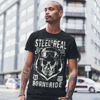 Steel Is Real Unique Design Graphic T-shirt